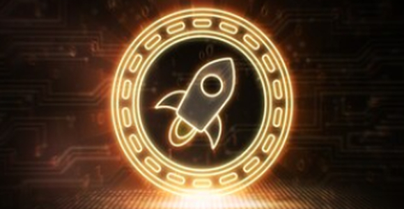 Neon Stellar cryptocurrency coin
