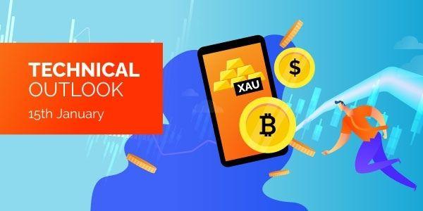 Technical Analysis Bitcoin EURUSD Gold 15th January