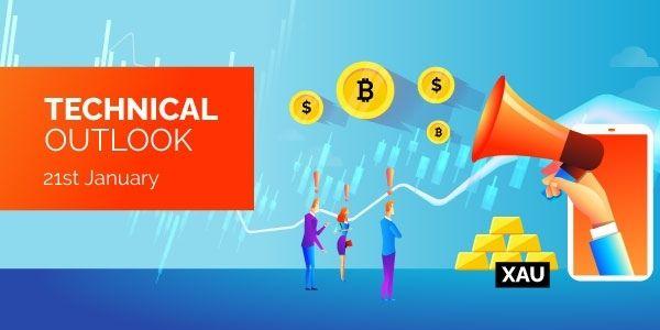Technical Analysis Bitcoin EURUSD Gold 21st January